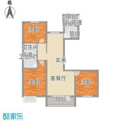 亿隆国际广场135.56㎡C2户型3室2厅1卫