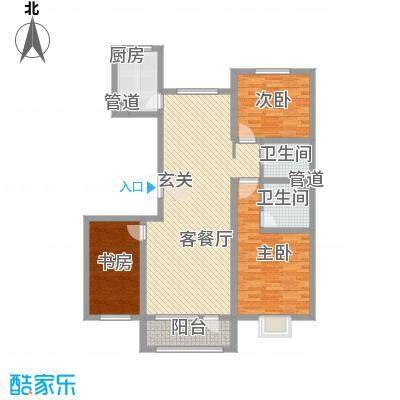 亿隆国际广场133.80㎡C3户型3室2厅2卫