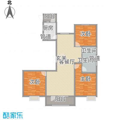 亿隆国际广场142.18㎡C2-1户型3室2厅2卫
