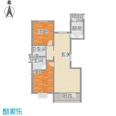 亿隆国际广场121.56㎡C3-4户型2室2厅2卫
