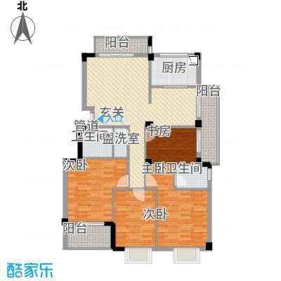 东城国际二期143.20㎡D9#01单元4室户型4室2厅2卫1厨