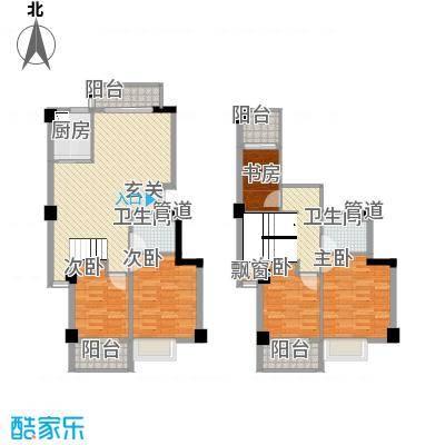 东城国际二期153.20㎡F复式9#0304050607复式户型5室2厅2卫1厨