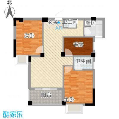 东城国际二期788.20㎡B7#0203单元3室户型3室2厅2卫1厨