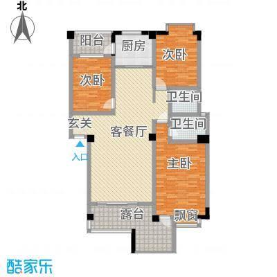 上东风景二期132.86㎡9-B户型3室2厅2卫1厨