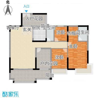 人和春天花园164.00㎡2、3号楼01户型3室2厅2卫1厨