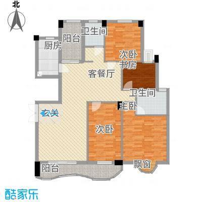 中地・滨江国际18153.20㎡18号楼户型4室2厅2卫1厨