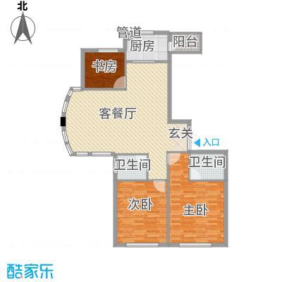 美珠花园32134.22㎡E户型3室2厅2卫1厨