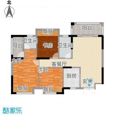 芙蓉公馆111.31㎡A1户型3室2厅2卫