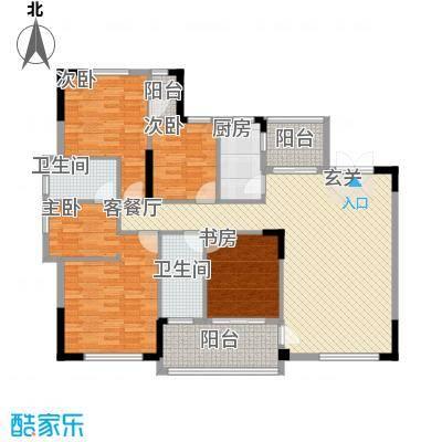 芙蓉公馆143.80㎡C1户型4室2厅3卫