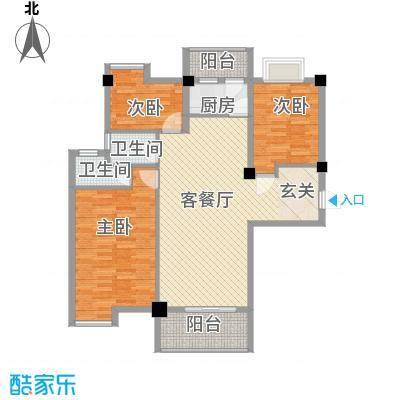帝豪景城1315.11㎡D1户型3室2厅2卫1厨