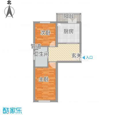 千禧・幸福城62.42㎡c1户型1室2厅1卫
