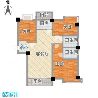 帝豪景城33115.42㎡D3户型3室2厅2卫1厨