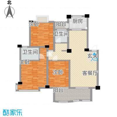 帝豪景城13.78㎡9栋户型3室2厅2卫1厨