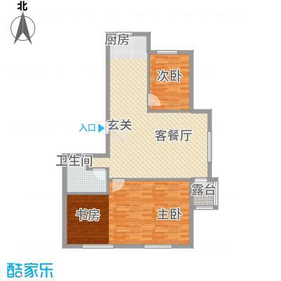 宗裕国际鑫城114.67㎡D户型3室2厅1卫1厨