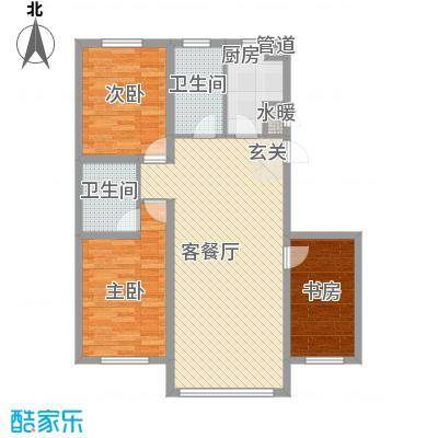 东湖凤还朝118.16㎡锦州乐户型3室2厅2卫1厨