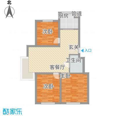 东湖凤还朝温馨三居室户型3室2厅1卫1厨