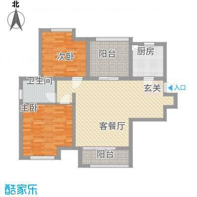 农房・名宿华府11.00㎡阔景高层B户型2室2厅1卫1厨