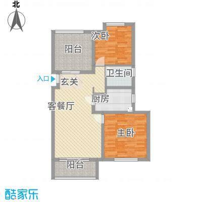农房・名宿华府18.00㎡阔景高层C户型2室2厅1卫1厨