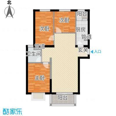 隆兴宜居113.10㎡6户型3室2厅1卫1厨