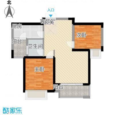 淮矿东方蓝海87.00㎡A-01户型2室2厅1卫1厨