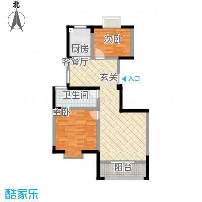 锦绣和庄6.00㎡户型2室2厅1卫1厨