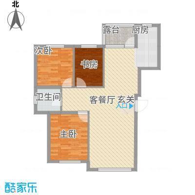 联发・香水湾17.10㎡二期G户型3室2厅1卫1厨