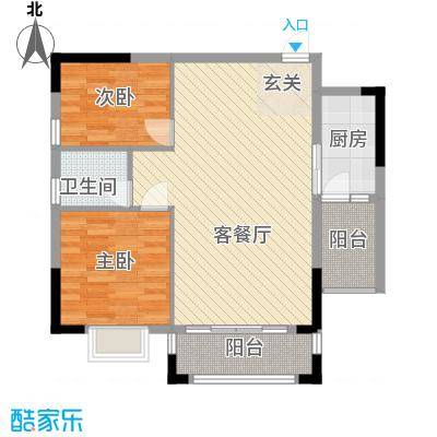 紫宸澜山84.76㎡2栋B03、04、07、08号房户型