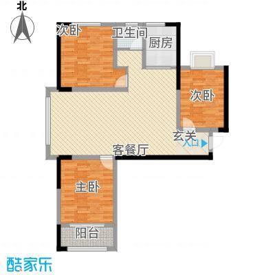 鑫融七里香溪122.00㎡A2户型3室2厅1卫1厨