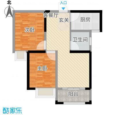 鑫融七里香溪8.70㎡B1户型2室2厅1卫1厨