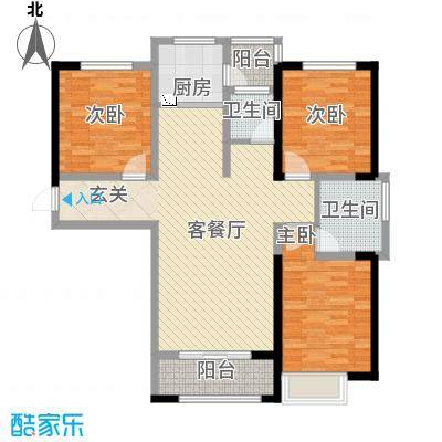 鑫融七里香溪128.73㎡B2户型3室2厅2卫1厨
