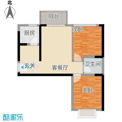 鑫融七里香溪6.78㎡A3户型2室2厅1卫1厨