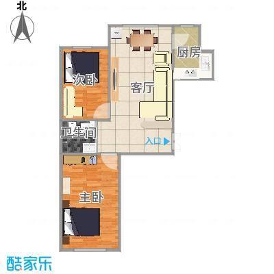 长春_上台花园A区8栋80㎡户型图