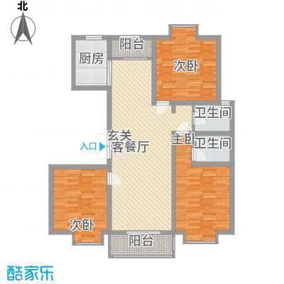 紫金领秀二期136.20㎡三十户型3室2厅2卫1厨