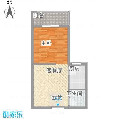 盛世豪庭53.30㎡H-8户型1室1厅1卫1厨