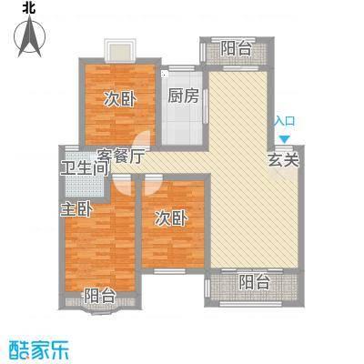 天工颐园111.30㎡B户型3室2厅1卫1厨