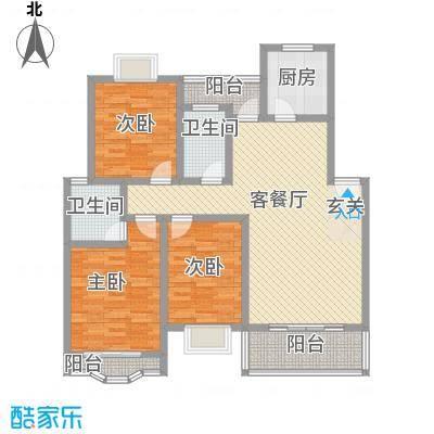 天工颐园118.50㎡C户型3室2厅2卫1厨