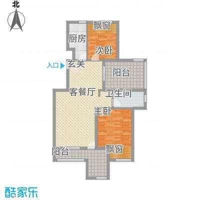 淮北凤凰城E-6F-边套户型