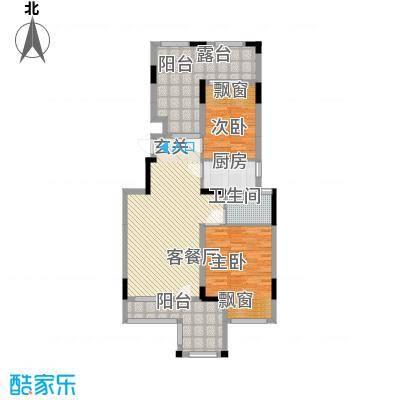淮北凤凰城E-2F-中间套户型