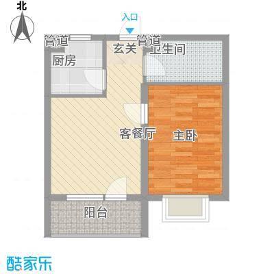 阳光海岸58.00㎡1号楼标准层户型1室1厅