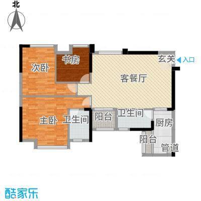 万象凯旋湾11.00㎡9栋03、07号房户型3室2厅2卫1厨