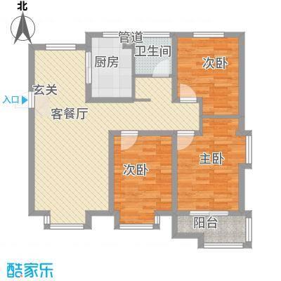 渤海・青青家园11.00㎡A1户型3室2厅1卫1厨