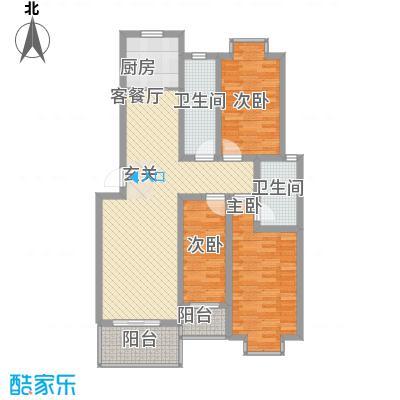 汇景仕嘉125.23㎡F2户型3室2厅2卫1厨