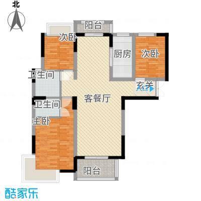御天城跃龙苑131.40㎡D1户型3室2厅2卫1厨