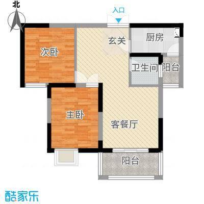 御天城跃龙苑8.32㎡B3户型3室2厅1卫1厨