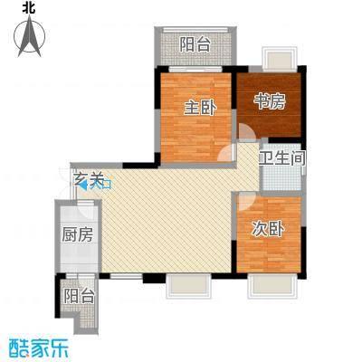 庐山星座2414.72㎡2-4户型3室2厅1卫1厨