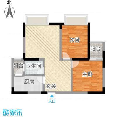 庐山星座2271.20㎡2-2户型2室2厅1卫