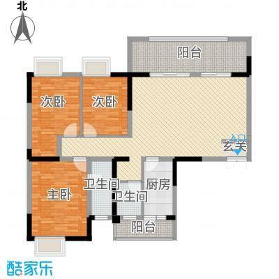 庐山星座11126.86㎡1-1户型3室2厅2卫1厨