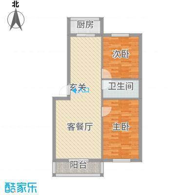 和鑫家园87.00㎡879户型2室2厅1卫1厨