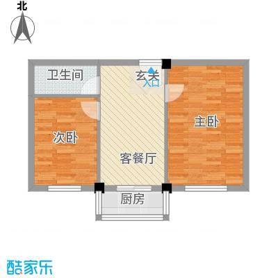 和鑫家园66.60㎡666户型2室1厅1卫1厨