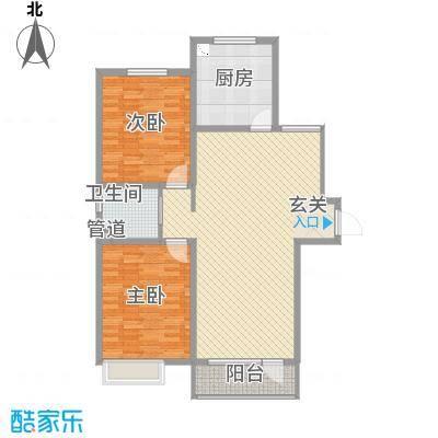 亿隆国际广场128.20㎡B5户型2室2厅1卫